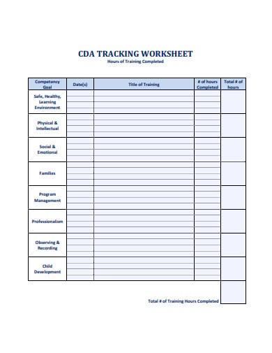 training-worksheet-example