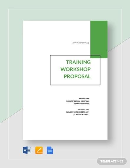 training workshop proposal template