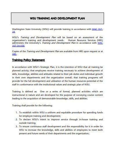 3+ Training Development Plan Templates - DOC, PDF | Free & Premium