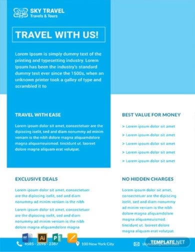 travel datasheet template3