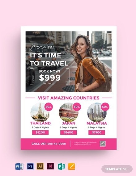 travel and tourism flyer template