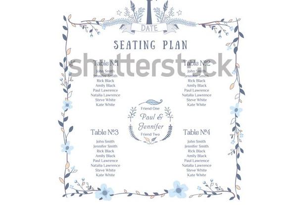 vector wedding seating chart