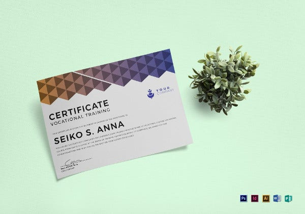 vocational-training-certificate-template