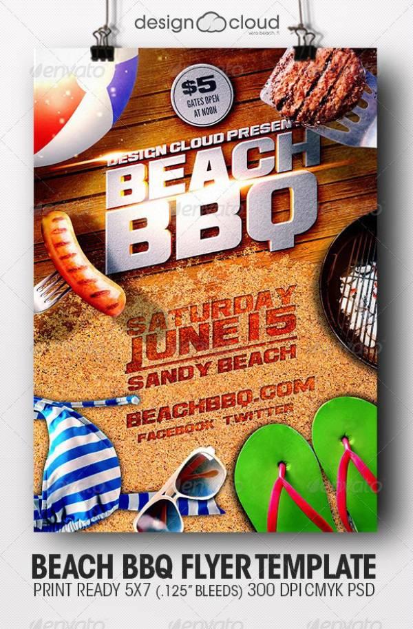 beach bbq flyer template 1