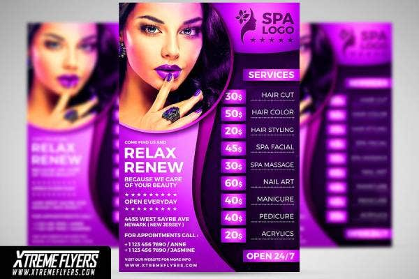 beauty salon flyer template 1