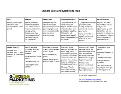 sample sales and marketing plan 1