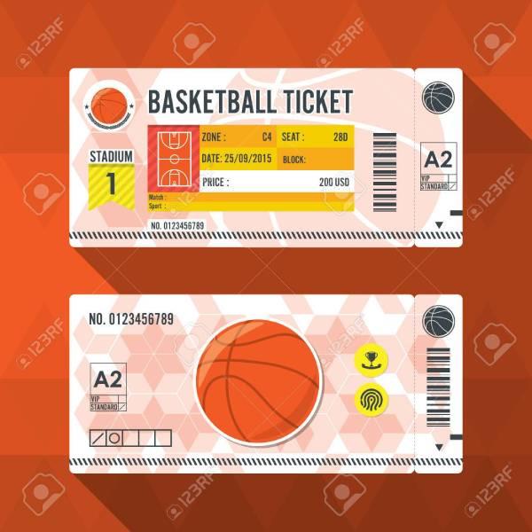 54668338 basketball ticket card modern element design