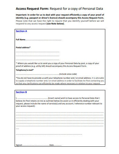 access request form template