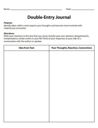 accounting double entry journal