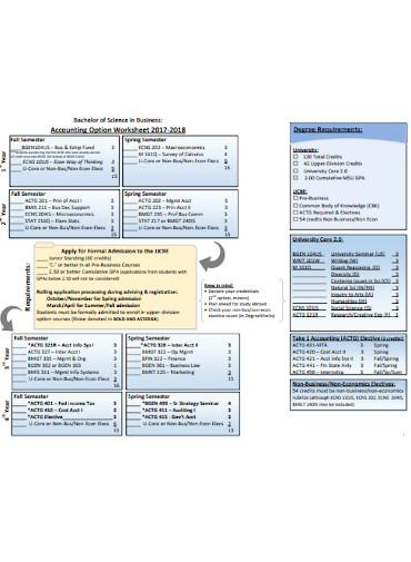 accounting option worksheet