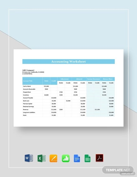 accounting worksheet template1