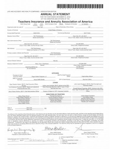 annuity statement template