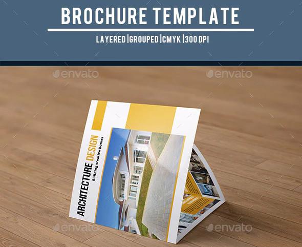 architecture company trifold brochure