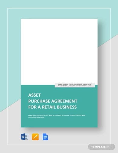 asset purchase agreement for a retail business template