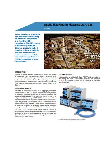 asset tracking in pdf