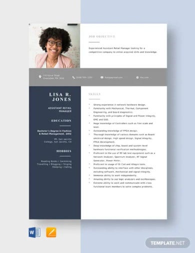 assistant retail manager resume template1