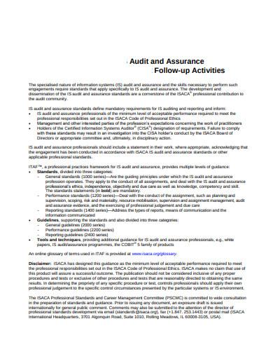audit follow up activities