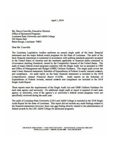 audit letter template