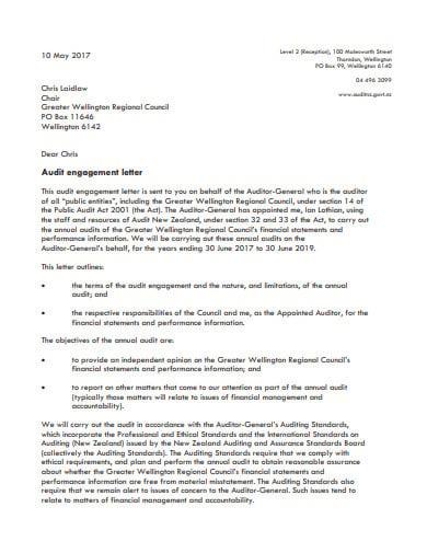 audit letter in pdf