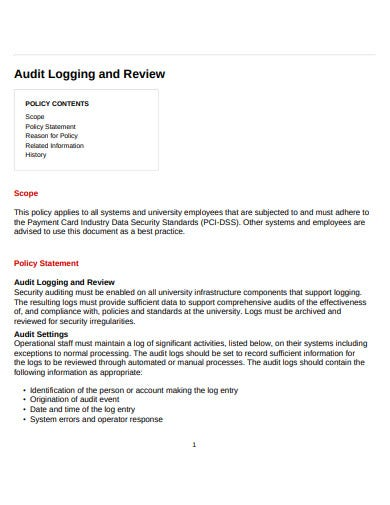 audit log review policy
