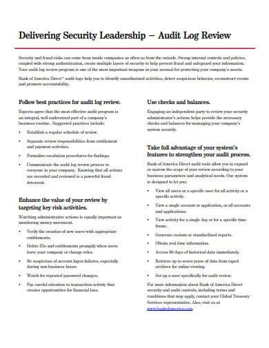 audit log review process