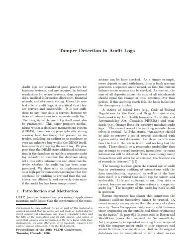audit log tamper detection