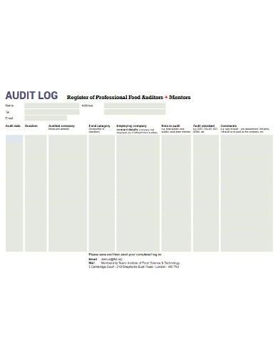 audit log template