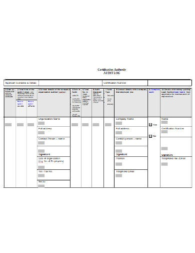 audit log in doc