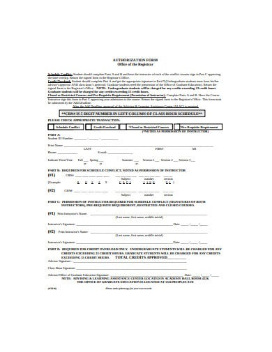 authorization-form-template
