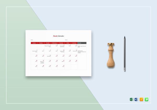 bt study calendar template 1
