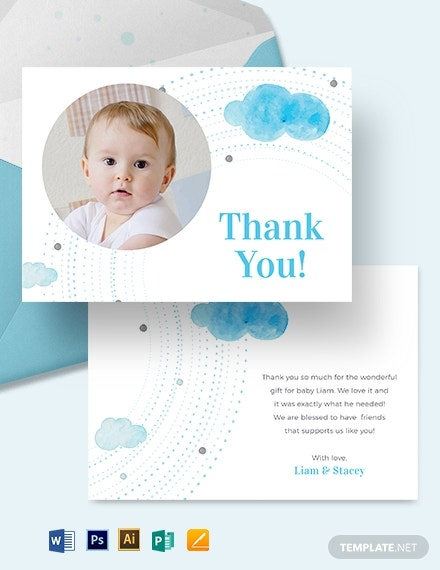 baby thank you card template 1