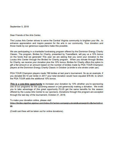 basic charity fundraising letter