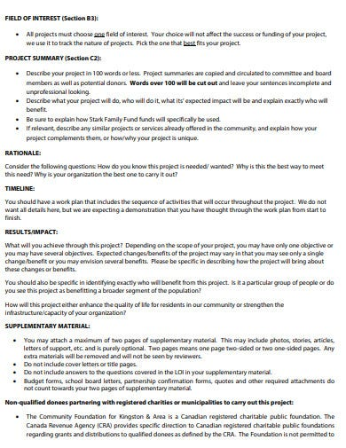 basic charity letter of intent template
