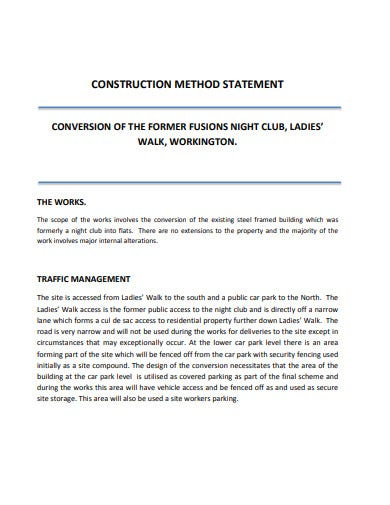 basic construction method statement