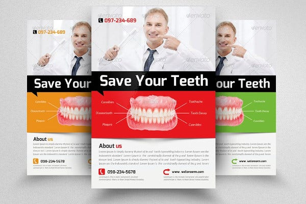 basic dentist flyer template