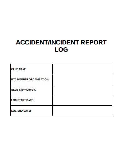 basic incident report log