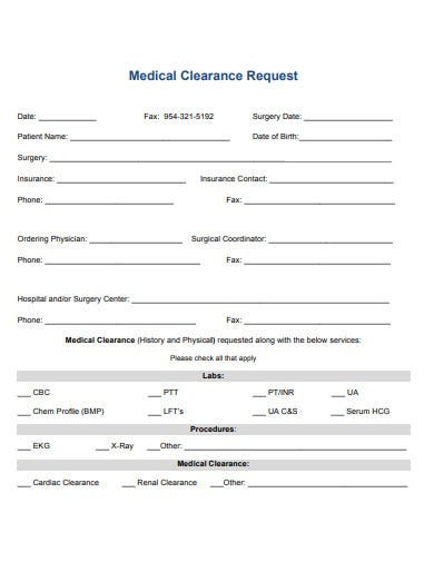 basic-medical-clearance-request-form-template