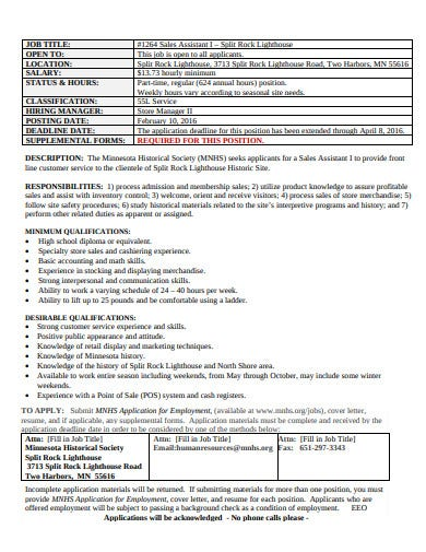basic retail assistant cover letter