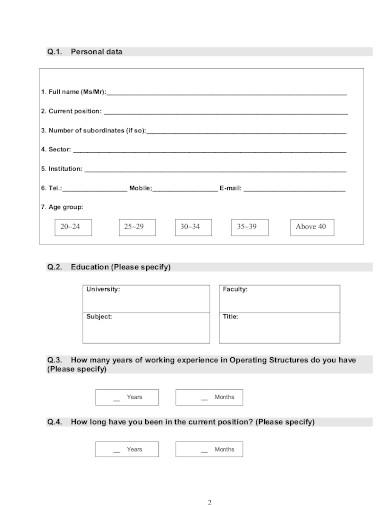 basic training assessment questionnaire template