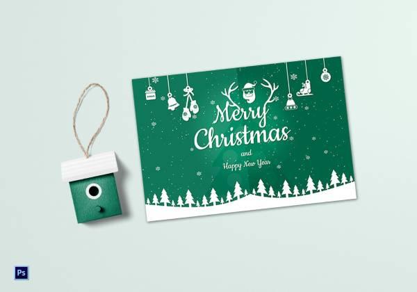 beautiful christmas greeting card template 1