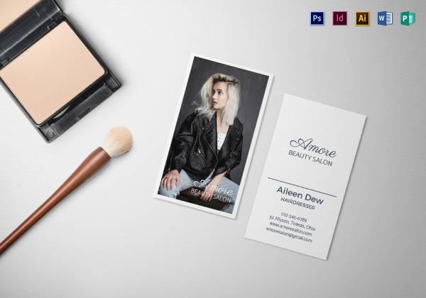 beauty salon business card mock up