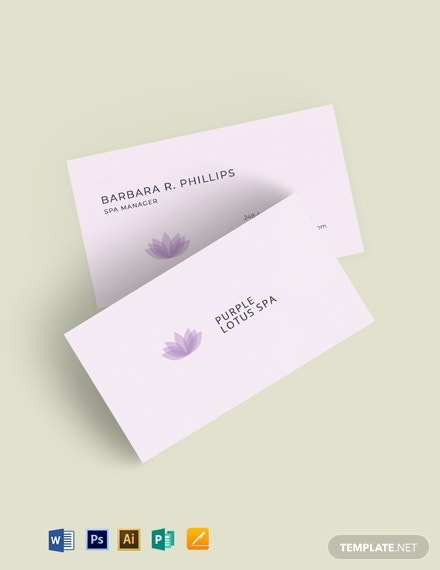 beauty salon spa business card1