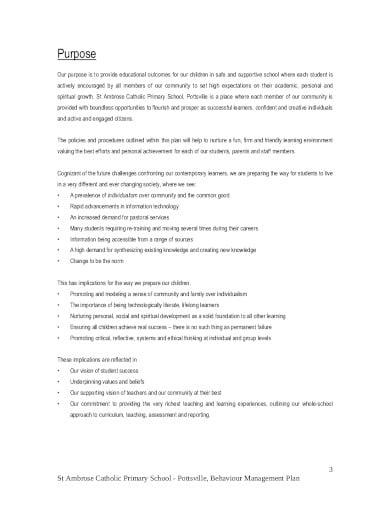 behaviour management program plan