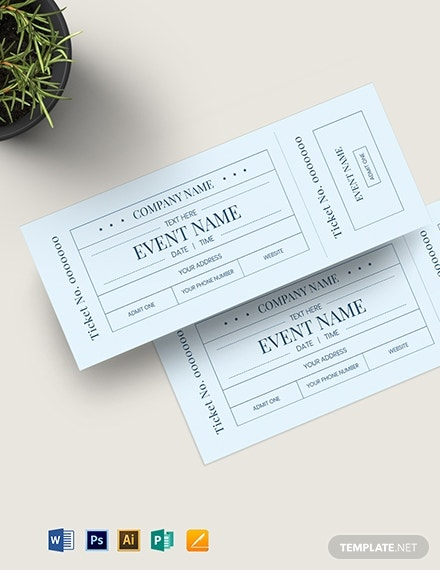 blank admission ticket template 1