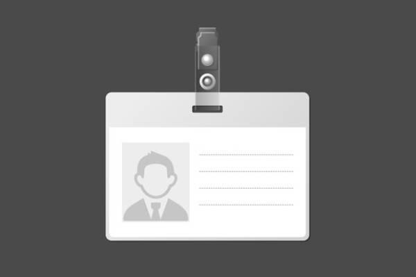 blank identification card badge id 1