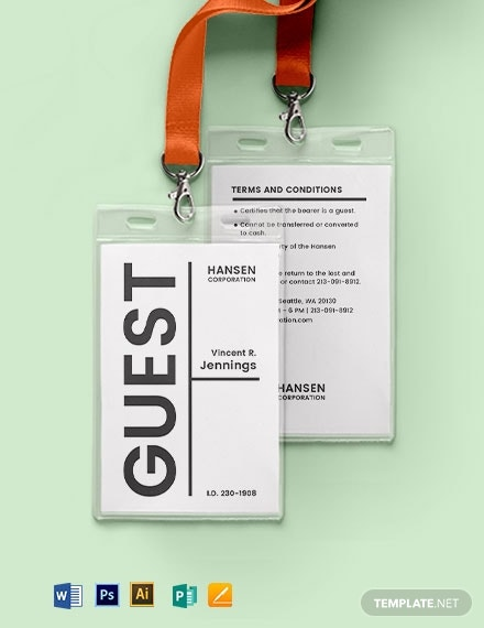 blank visitor guest id card1