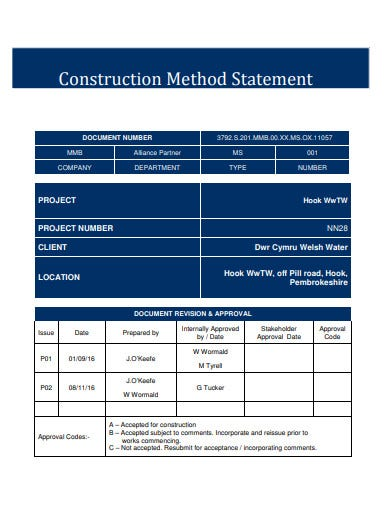 bridge construction method statement