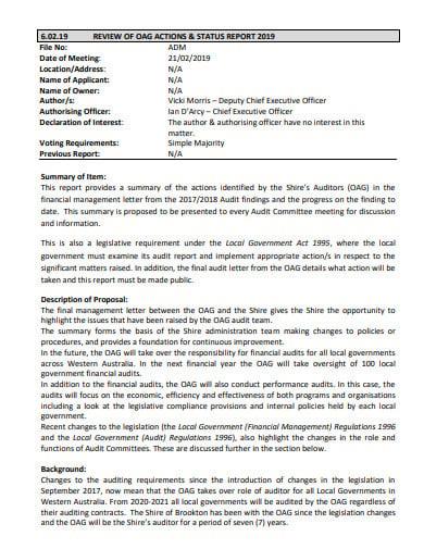 brookton audit meeting agenda template