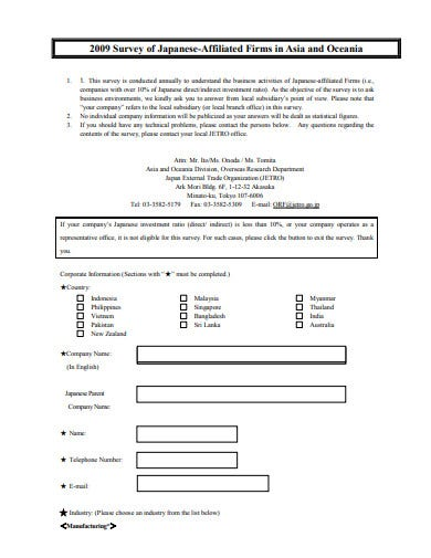 business analysis survey questionnaire