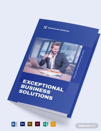 business company introcudtion bi fold brochure template